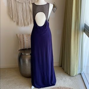 ANTHRO Staring at Stars blue cut out maxi dress. 6